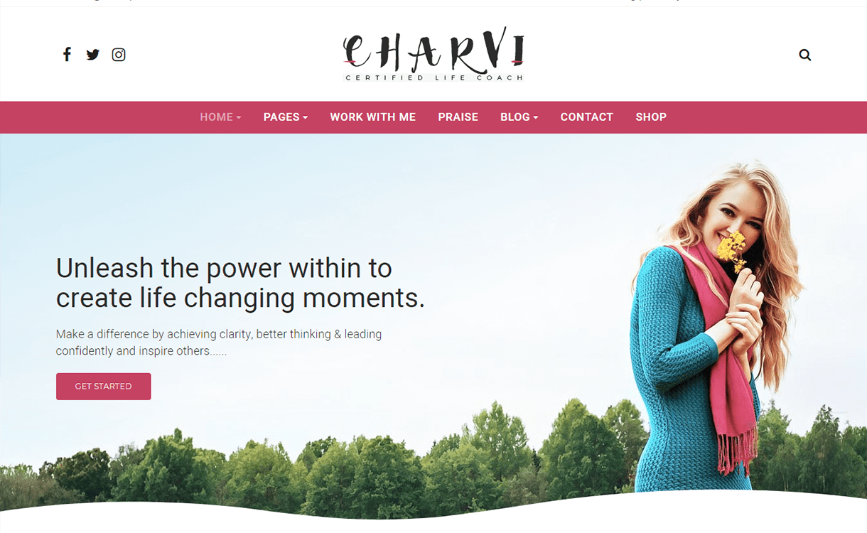 Charvi Coach Consulting-Best Premium WordPress Business Agency Themes