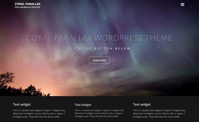 Coral Parallax Free Multipurpose WordPress Theme