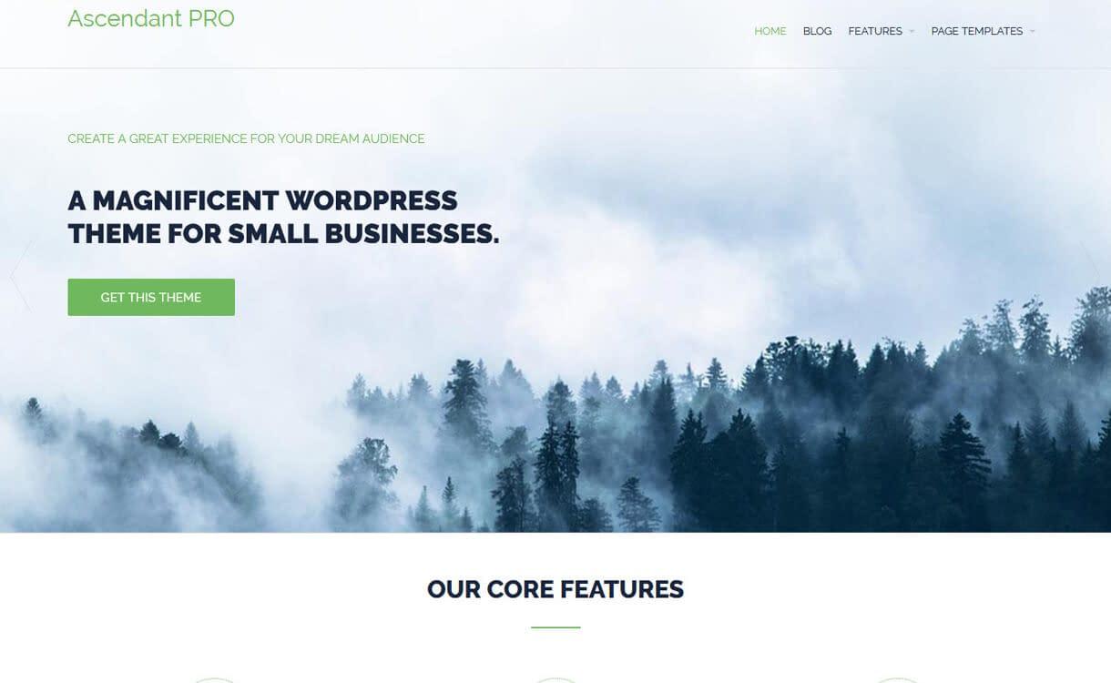 Ascendant-Free WordPress Landing Page Theme