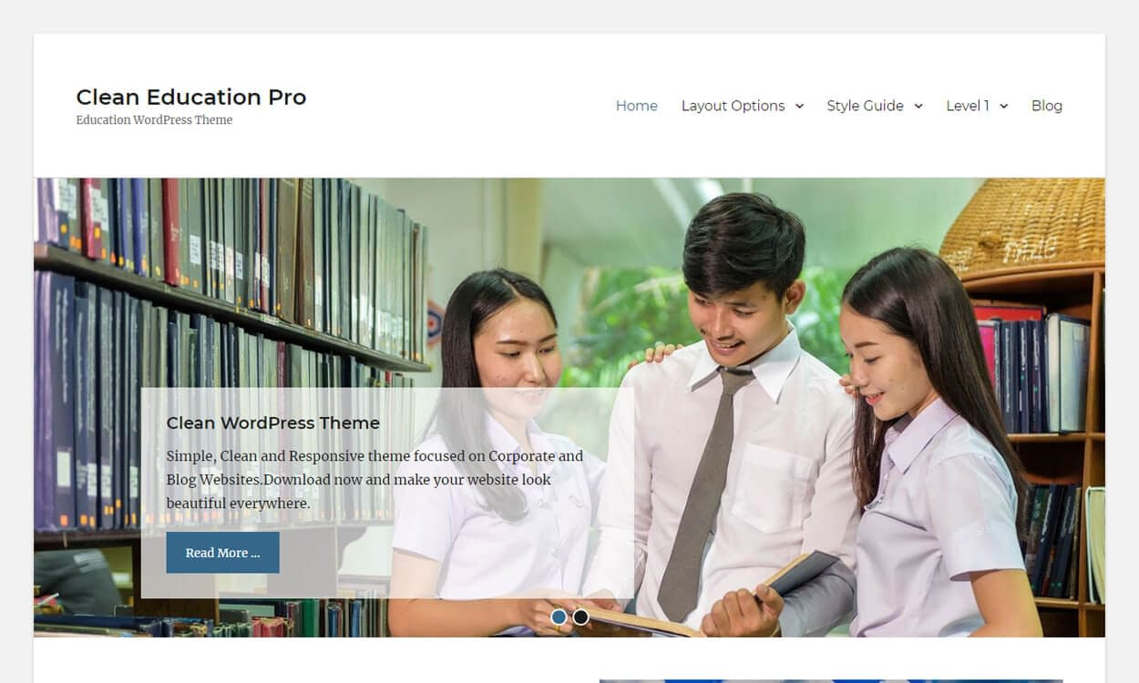Clean Education - Best Education School College WordPress Themes and Templates (Free)