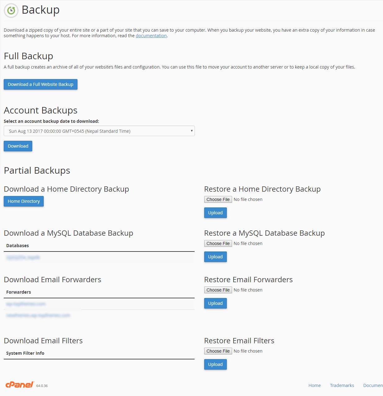 backup your WordPress database