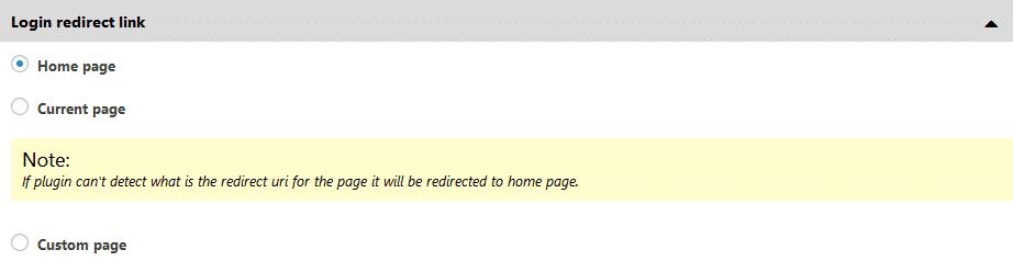 Login Redirect Link