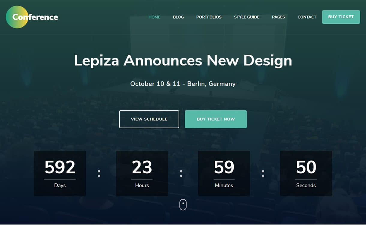 the-conference-best-free-seo-agency-wordpress-theme
