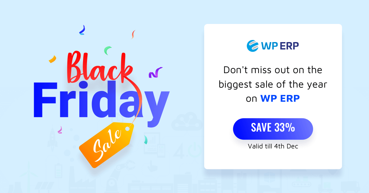 WP ERP - Black Friday Deal 2019
