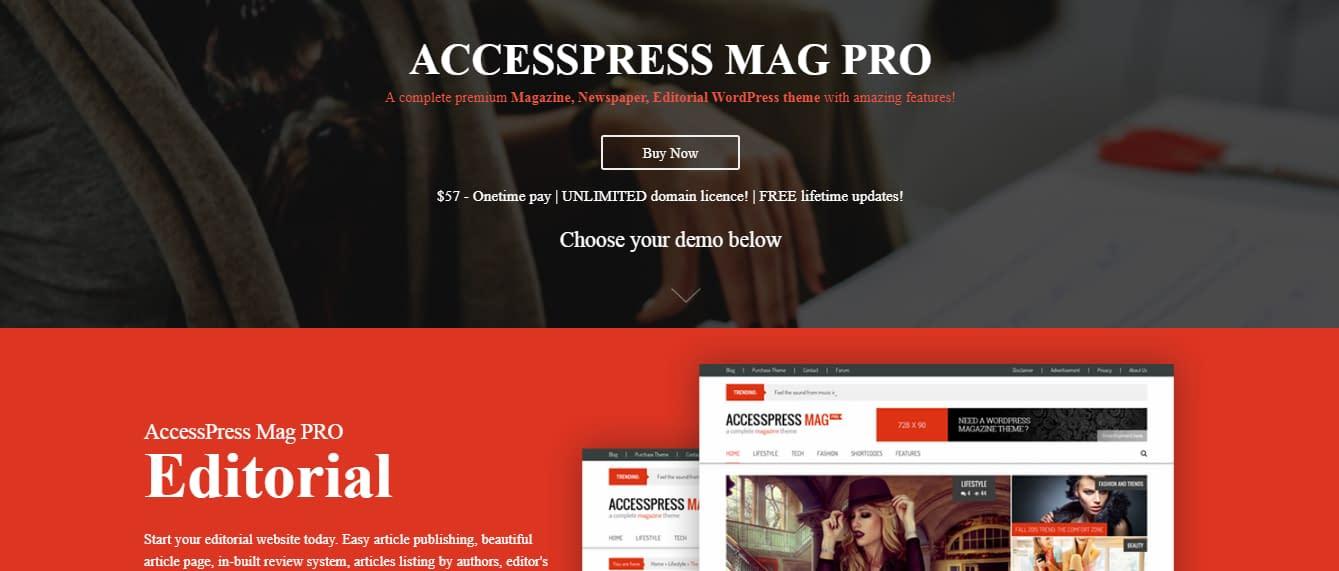 AccessPress Mag Pro - Best Premium WordPress News-Magazine, Editorial Themes