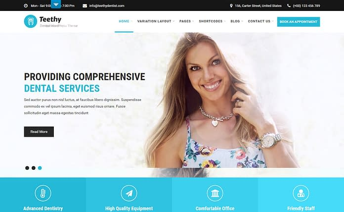 Teethy - Premium Medical WordPress Theme