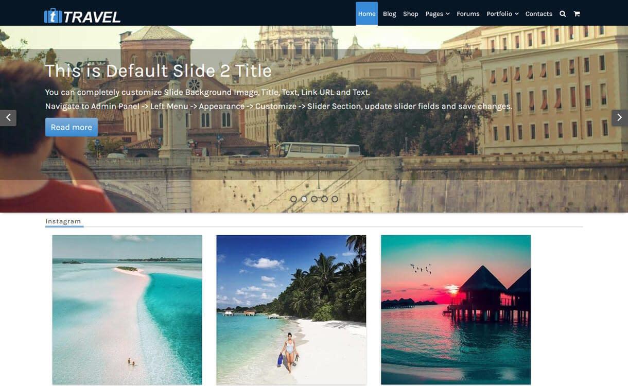 fTravel-Best WordPress Travel Blog Themes