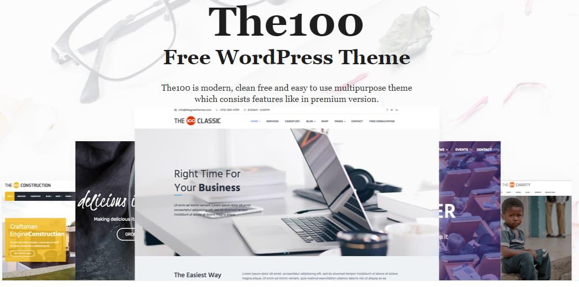 The 100 Free WordPress Theme