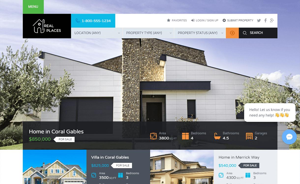 Real Places-Free & Premium Real Estate WordPress Themes