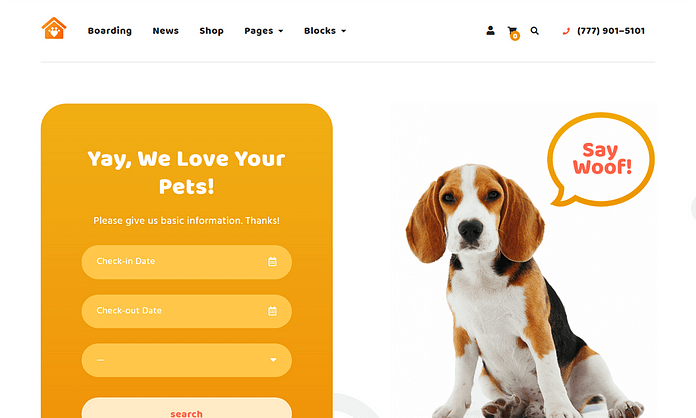 Petotel - Premium WordPress Pet Hotel Theme