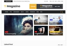 Ti Magazine - Free Multipurpose WordPress Themes