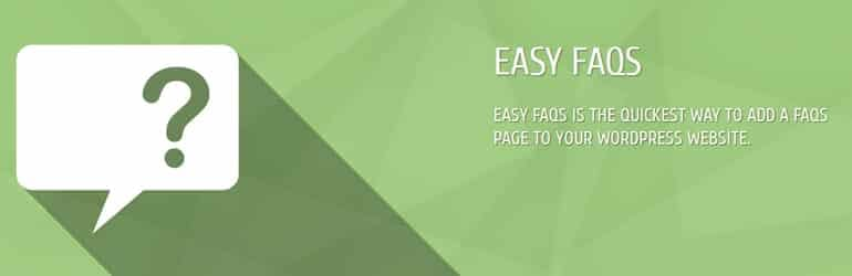 Easy FAQ - Free WordPress FAQ Plugins
