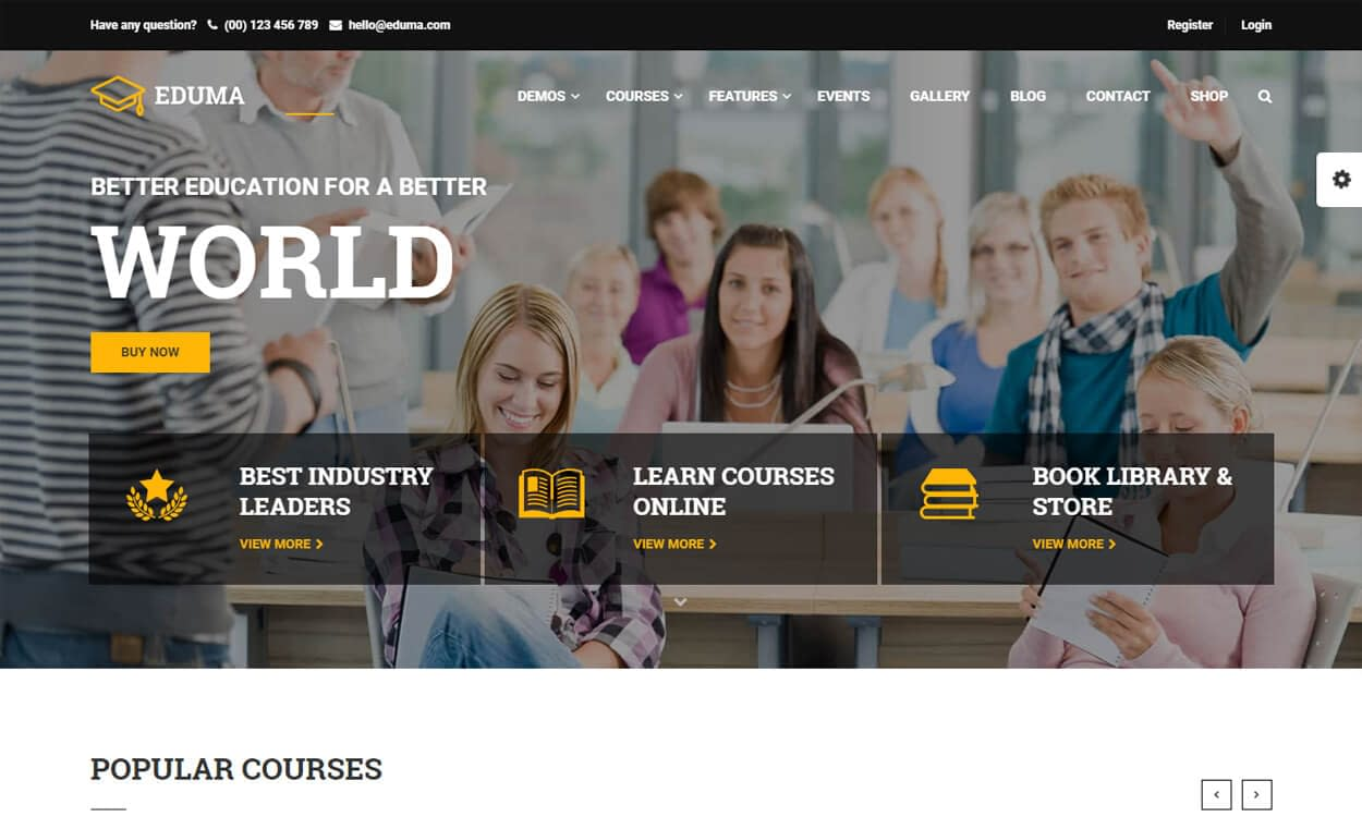Education - Best Education School College WordPress Themes and Templates (Free)