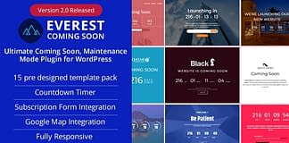 Best Coming Soon & Maintenance Mode Plugins for WordPress: Everest Coming Soon