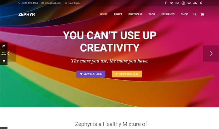 zephyr - best selling themeforest theme