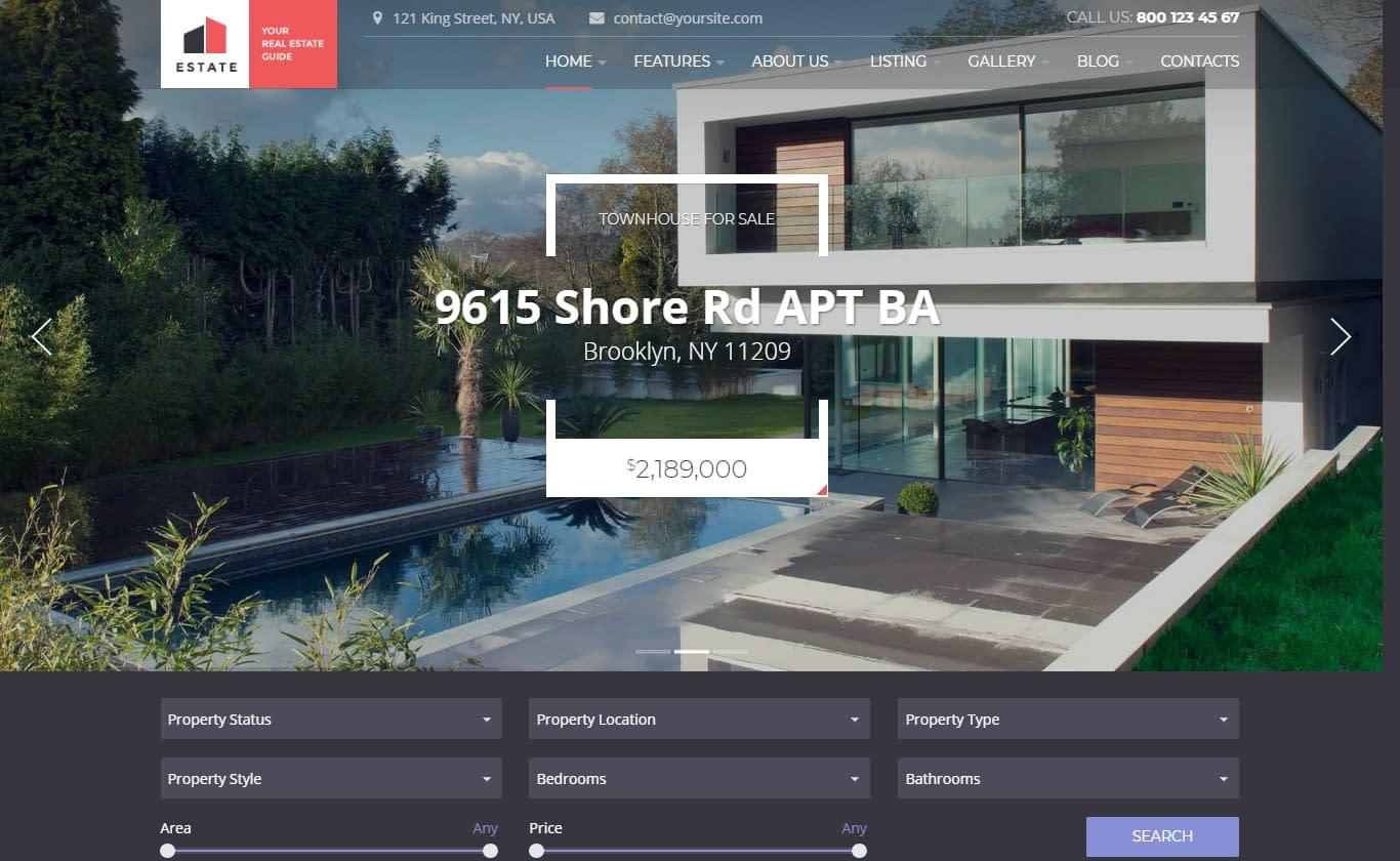 Estate – Best Premium Home Rental and Property WordPress Theme