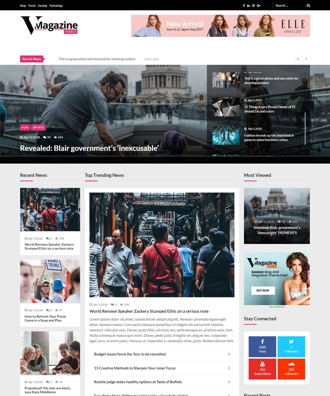 World Magazine Demo - WordPress Magazine Theme
