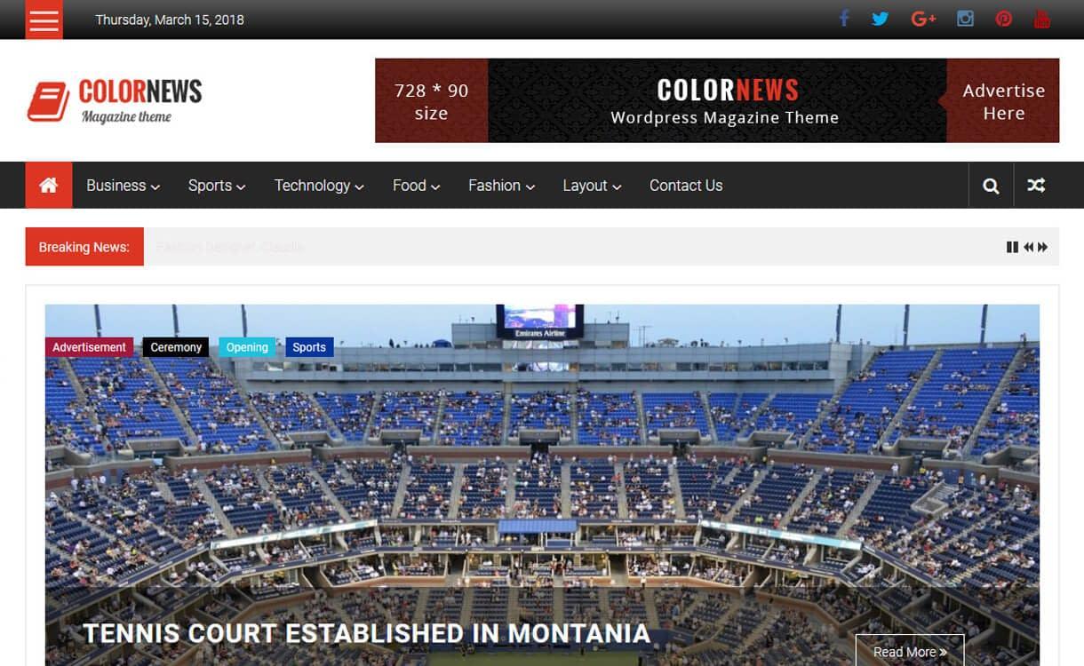 ColorNews-Best Free WordPress News-Magazine/Online Editorial Themes