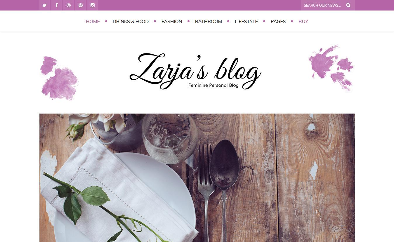 Zarja Blog - Premium Fitness WordPress Theme