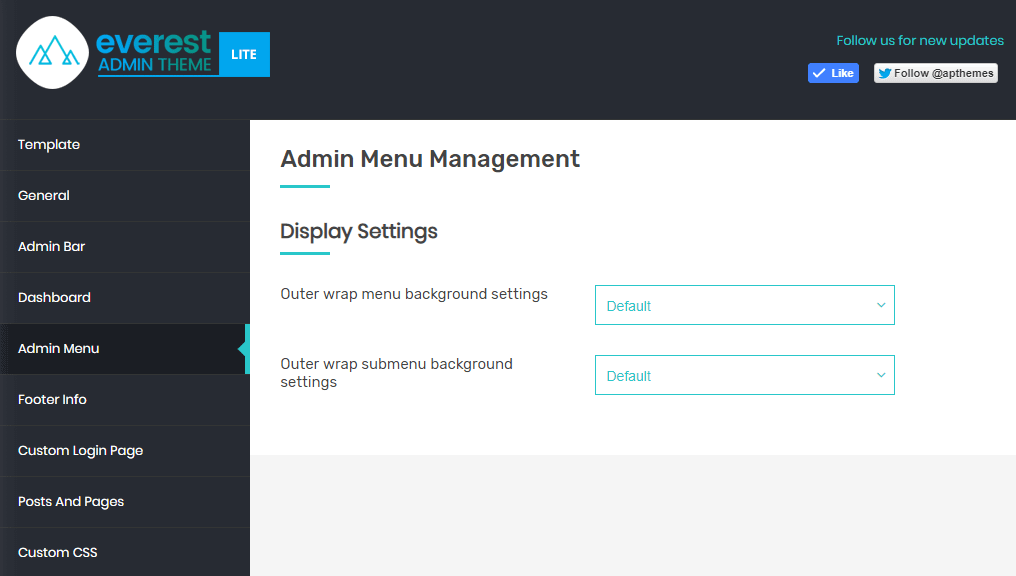 Everest Admin Theme: Admin Menu