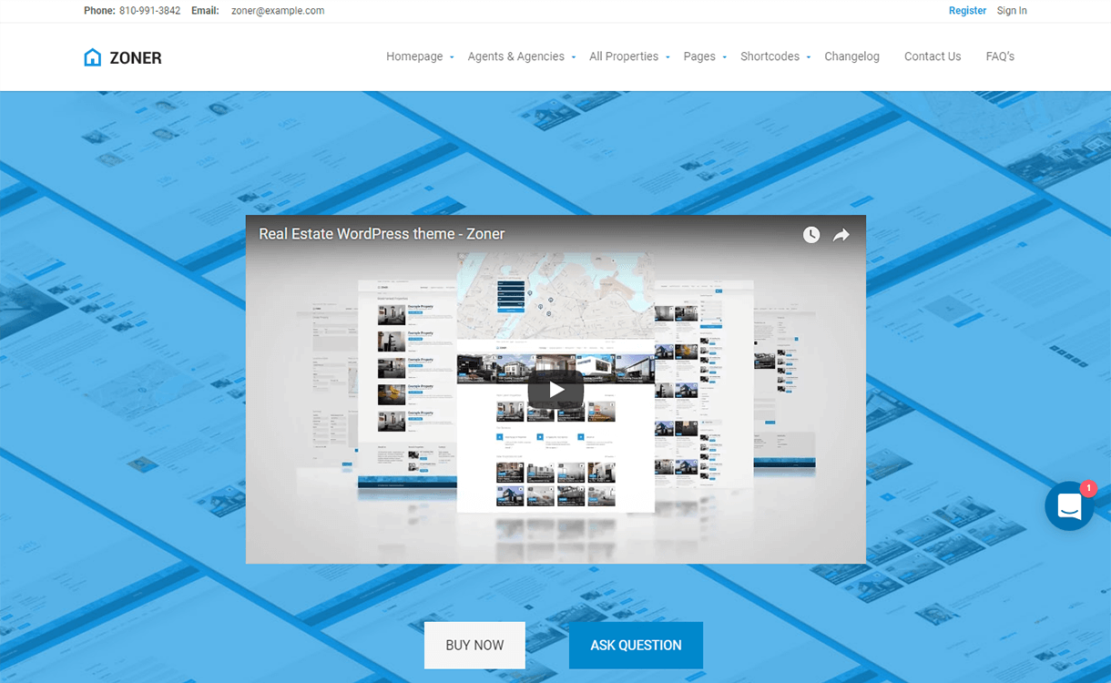 Zoner-Free & Premium Real Estate WordPress Themes