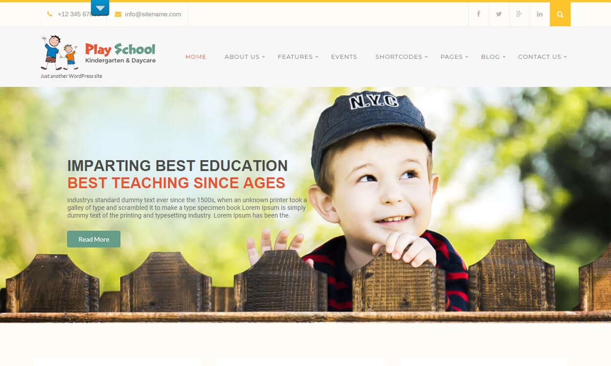 Play School Lite - Best Education School College WordPress Themes and Templates (Free)