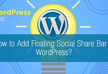 How to Add Floating Social Share Bar in WordPress
