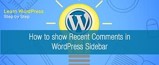 how to show recent comments in your wordpress sidebar