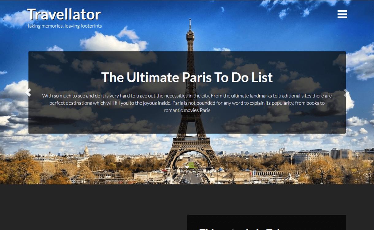 Travellator-Best WordPress Travel Blog Themes