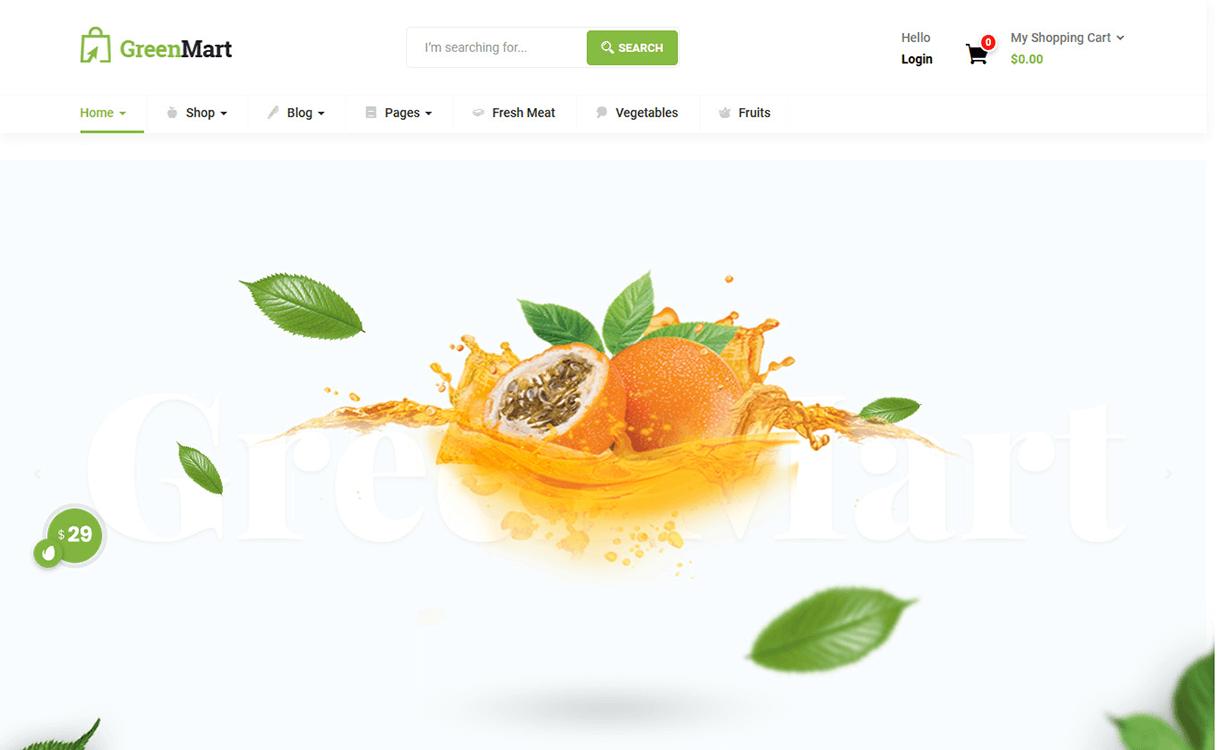GreenMart-Best Premium WordPress eCommerce WooCommerce Online Store Themes 2018