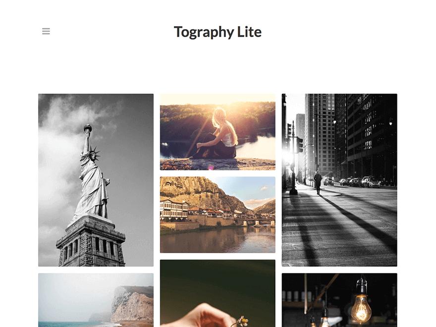 Tography-lite - Free Photography WordPress Theme
