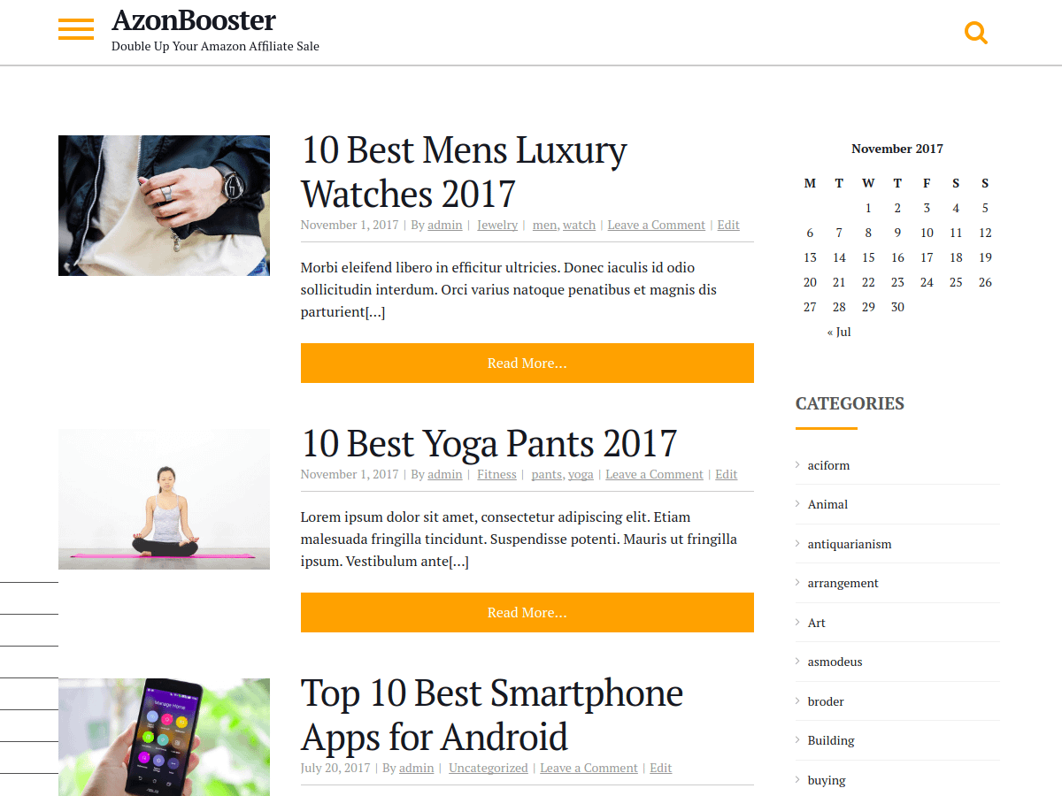 AzonBooster - Best Free BuddyPress WordPress Theme