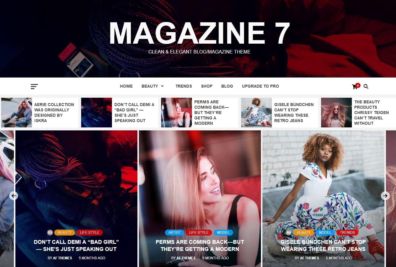Magazine 7 - Free WordPress Magazine Theme