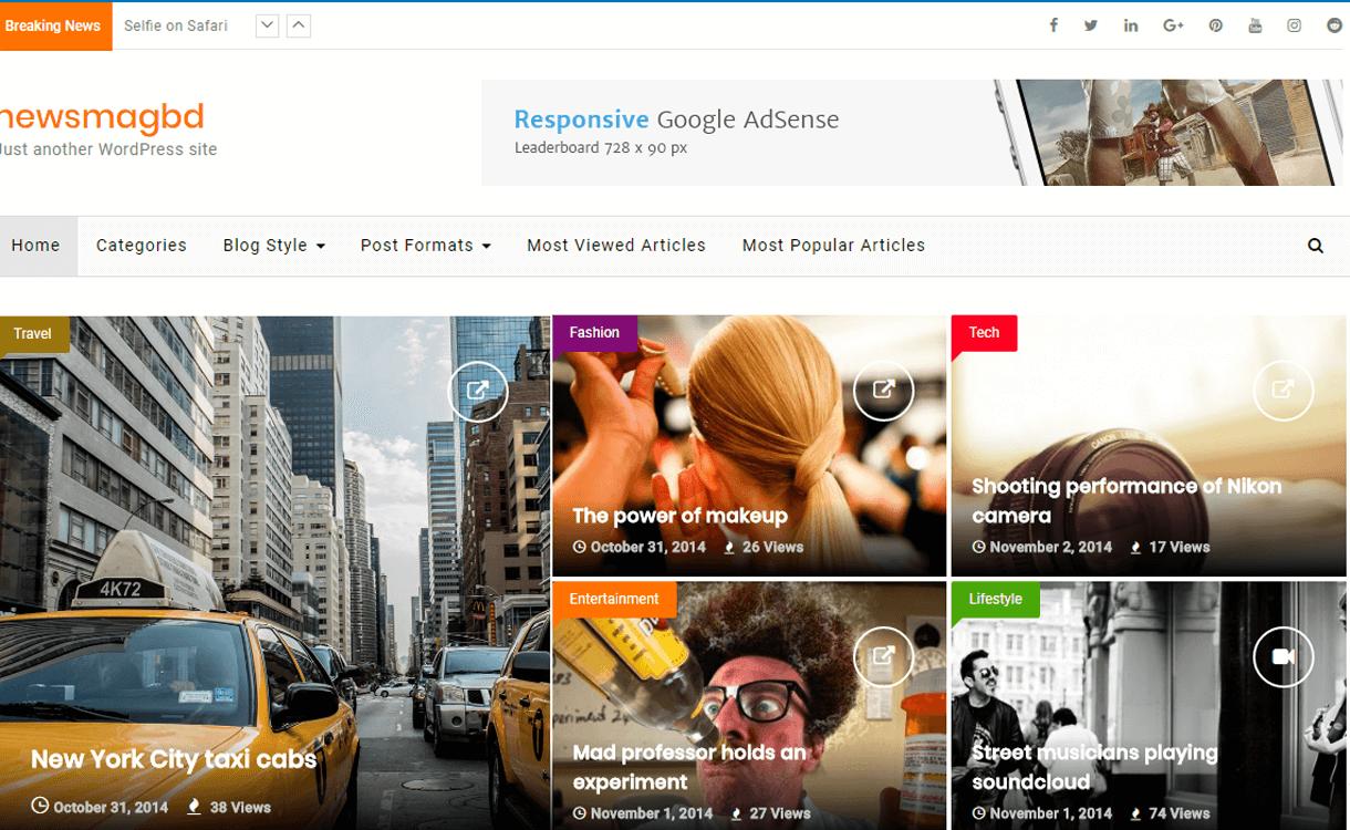 Newsmagbd-Best Free WordPress News-Magazine/Online Editorial Themes