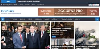 Eggnews WordPress news magazine theme
