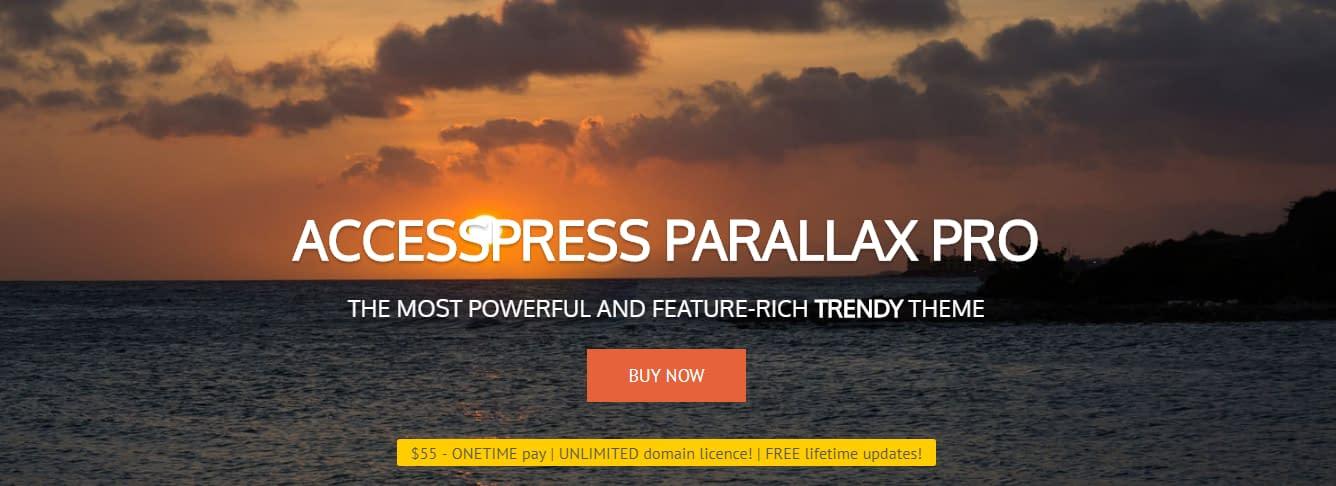 AccessPress Parallax Pro - Best Premium One Page Theme