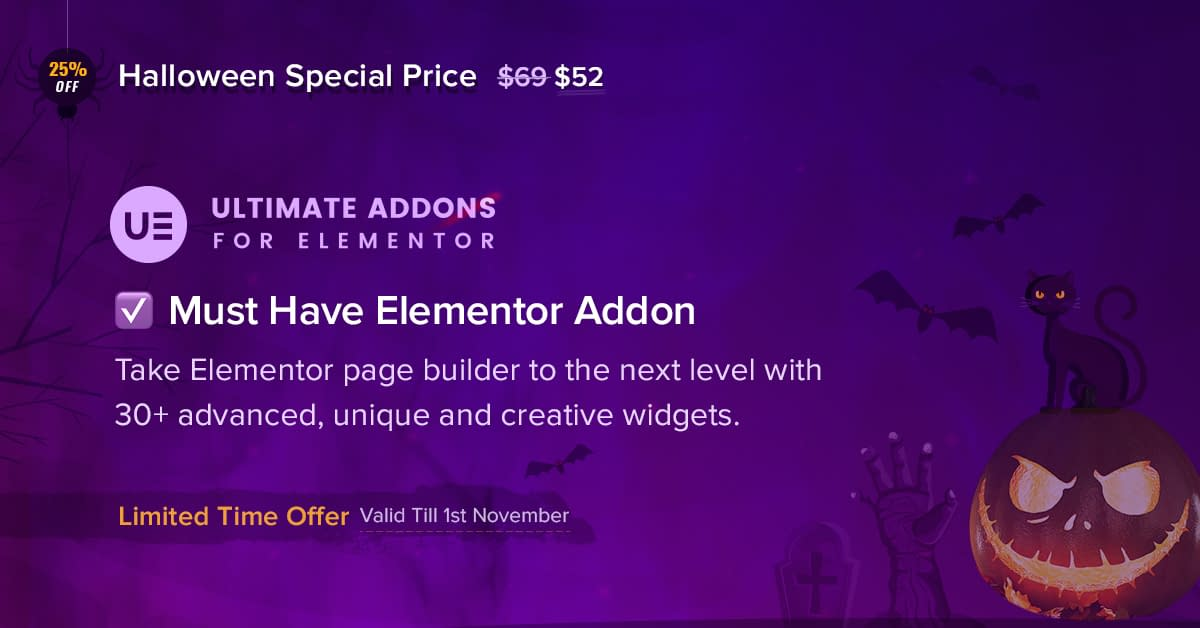 Ultimate Addons for Elementor Halloween Offer