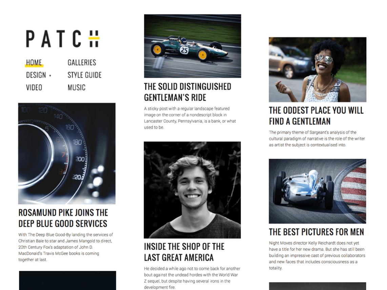 Patch Lite - free magazine WordPress theme