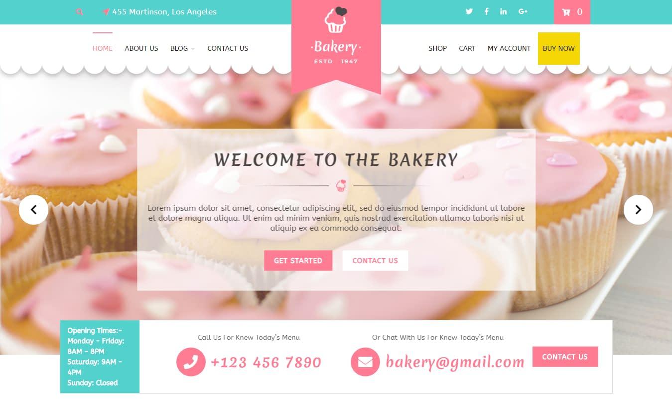 VW Bakery - Free Feminine WordPress Theme
