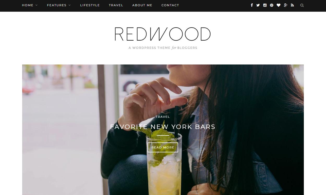 Redwood - Best Premium WordPress Blog Themes
