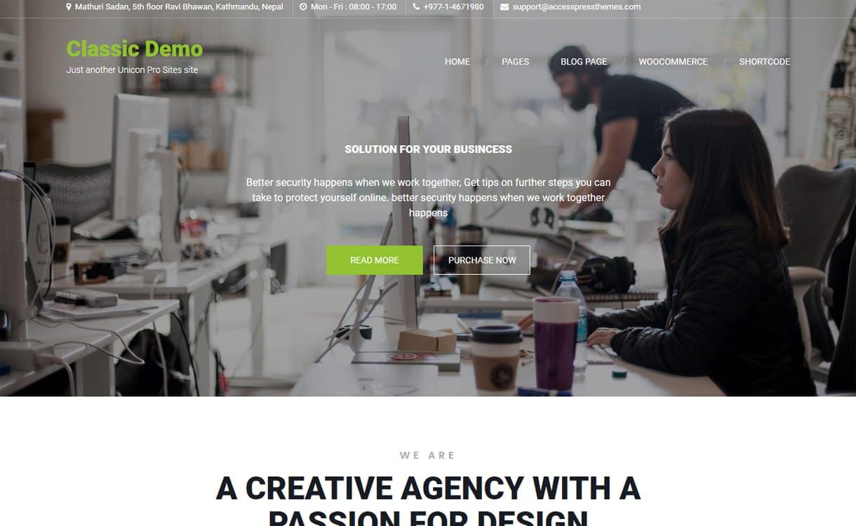 Unicon Pro - Premium WordPress Business Theme