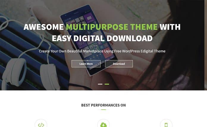 Edigital - Free Multipurpose WordPress Theme