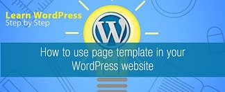How to use page template in WordPress website