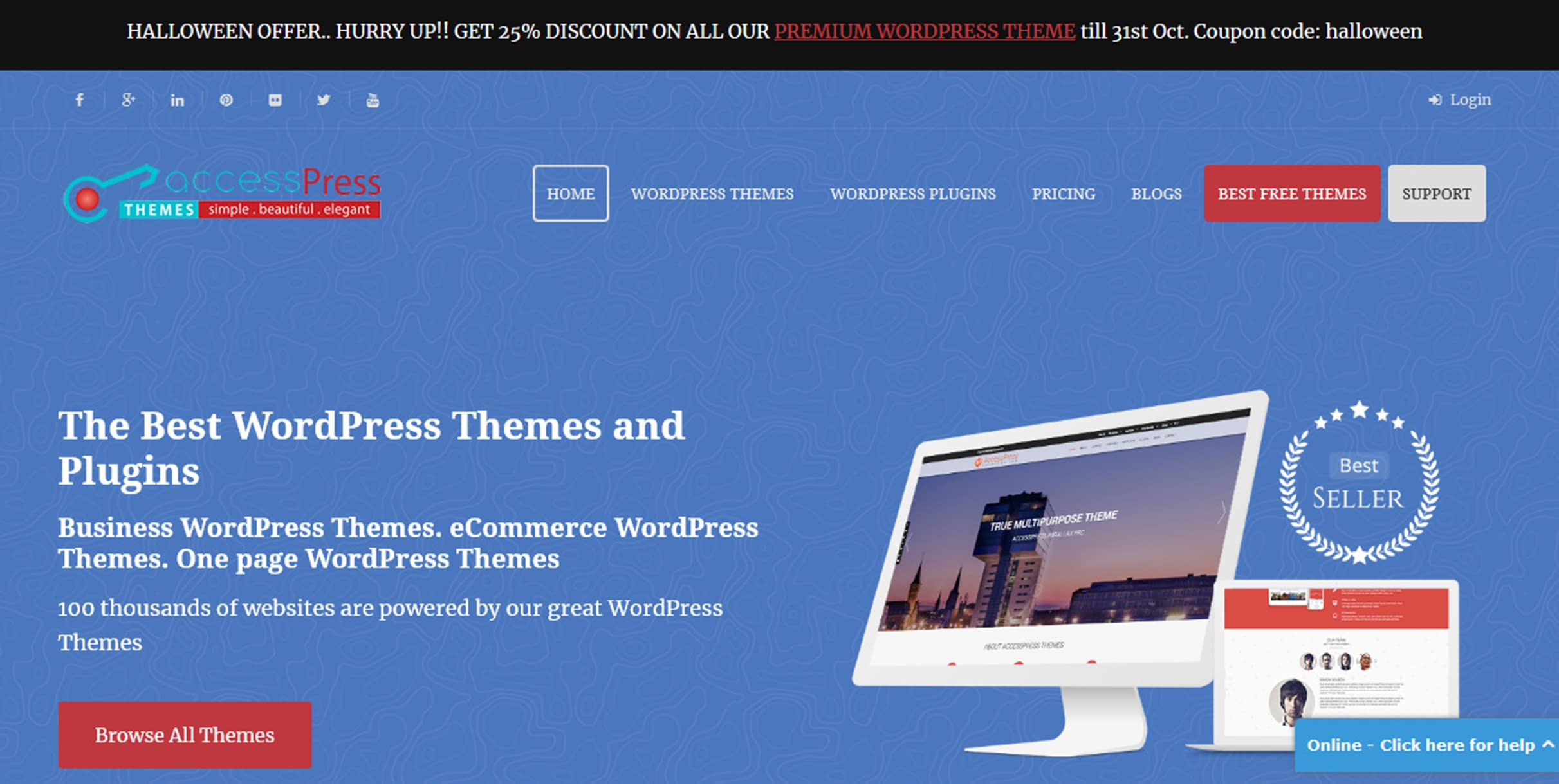 WordPress Deals and Discounts for Halloween 2018 - AccessPress Themes