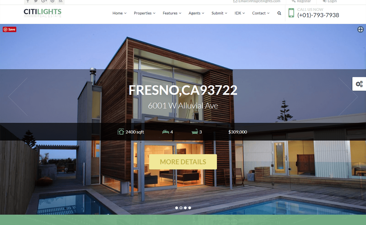 CitiLights-Best Free And Premium Real Estate WordPress Themes