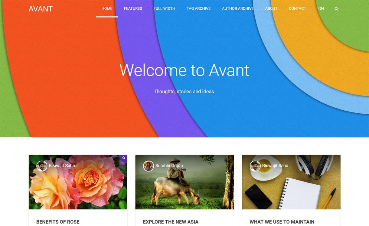 avant-best-premium-material-design-wordpress-theme