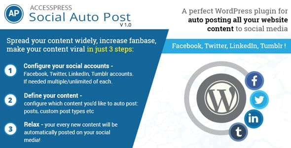 AccessPress Social Auto Post - WordPress Social Auto Post Plugins