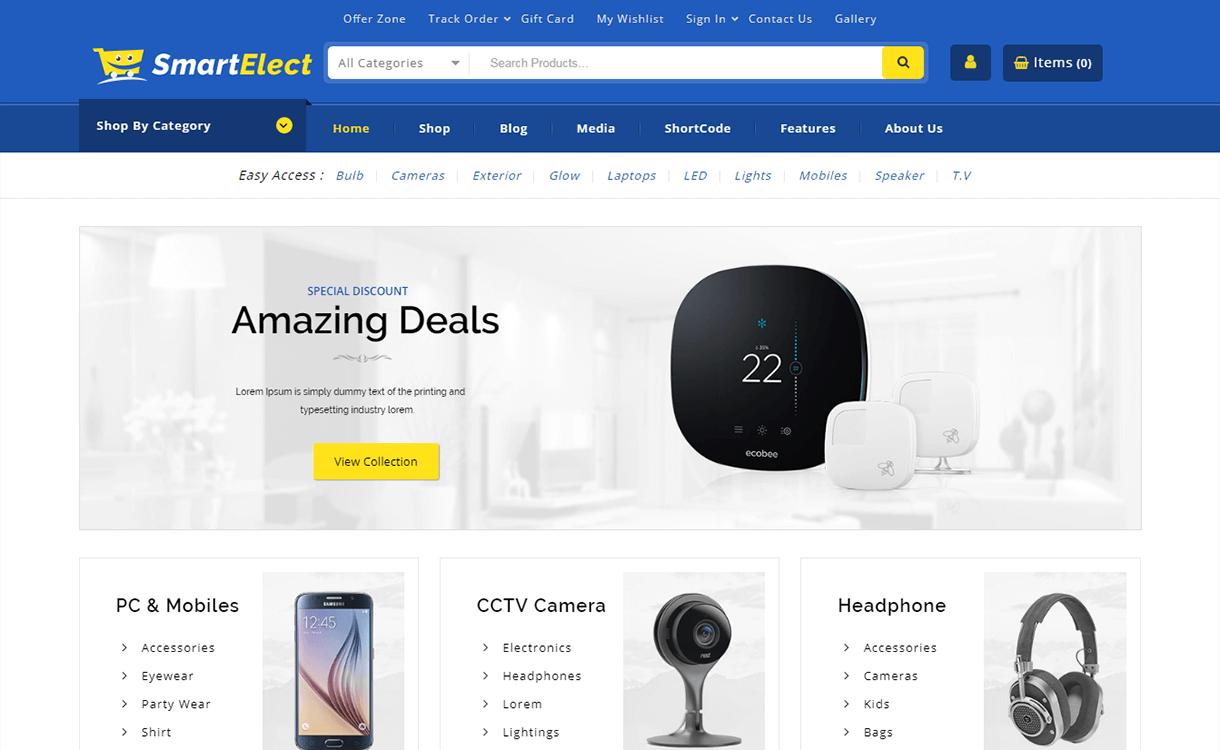 Smart Elect-Best Premium WordPress eCommerce WooCommerce Online Store Themes 2018
