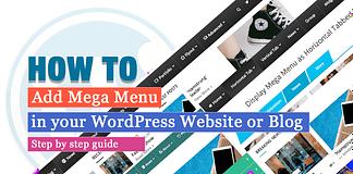 How to Add Mega Menu in your WordPress Website