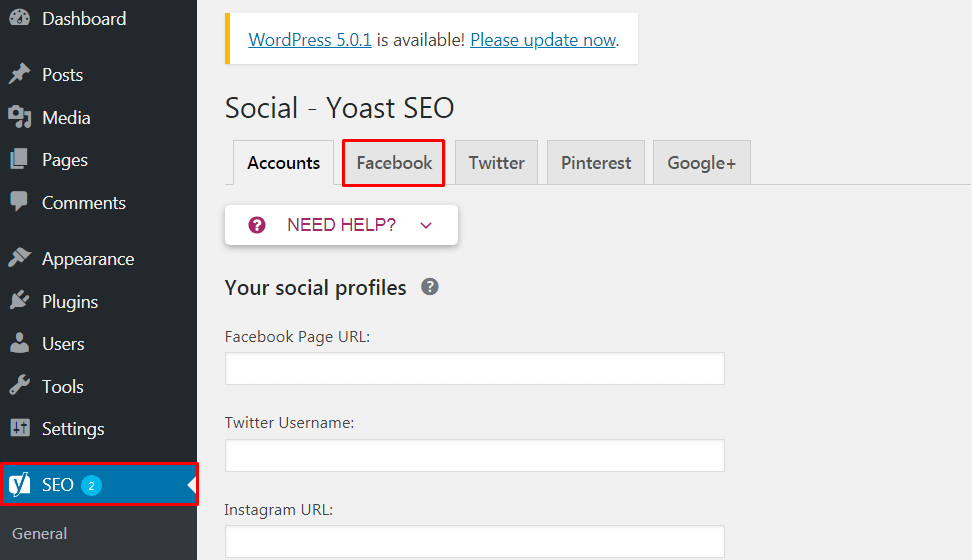 Get Facebook Insights for WP Site.